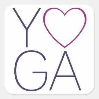yoga love square sticker