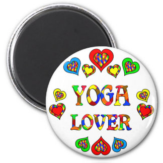 Yoga Lover 2 Inch Round Magnet