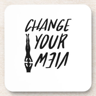Yoga Lover  Change Your View Funny  Men Women Coaster