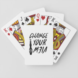 Yoga Lover  Change Your View Funny  Men Women Playing Cards