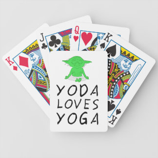 yoga loves yoga bicycle playing cards