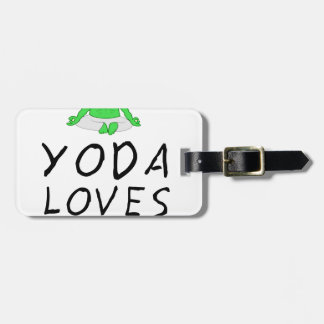 yoga loves yoga luggage tag