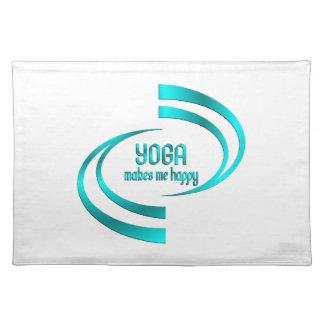 Yoga Makes Me Happy Placemat