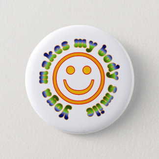 Yoga Makes My Body Smile Health Fitness New Age 2 Inch Round Button
