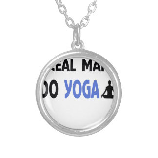 YOGA MAN fitness Silver Plated Necklace