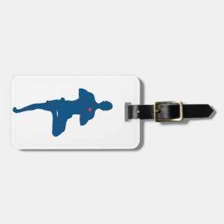 Yoga Man Tree Pose Luggage Tag
