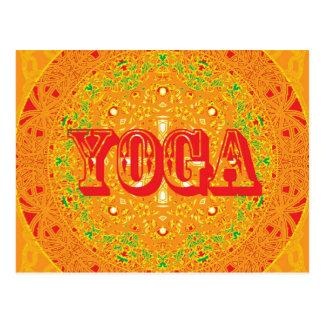 Yoga Mandala Design Postcard