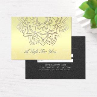 YOGA & Massage Gift Certificate Black Gold Mandala