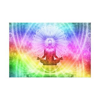 Yoga Meditation Buddhist Nirvana Inspirational Canvas Print
