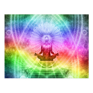 Yoga Meditation Buddhist Nirvana Inspirational Postcard