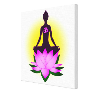 Yoga meditation canvas print