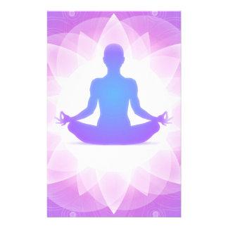 Yoga Meditation Customized Stationery