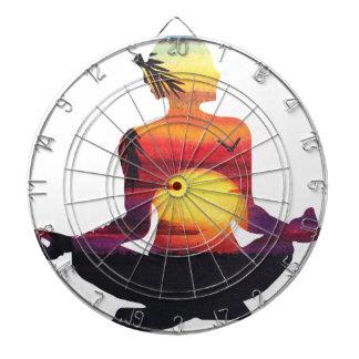 Yoga meditation dartboard