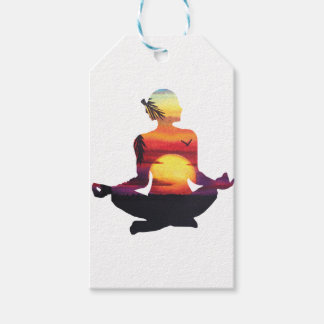Yoga meditation gift tags