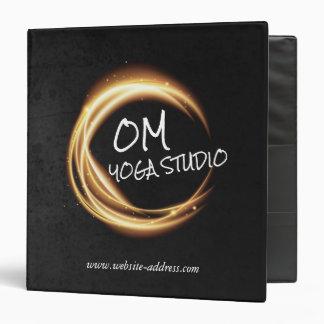 Yoga Meditation Instructor Black & Gold ZEN Symbol 3 Ring Binders