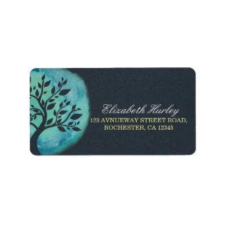 Yoga Meditation Instructor Elegant Watercolor Tree Label