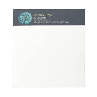 Yoga Meditation Instructor Elegant Watercolor Tree Notepad