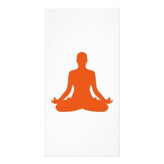Yoga meditation photo card
