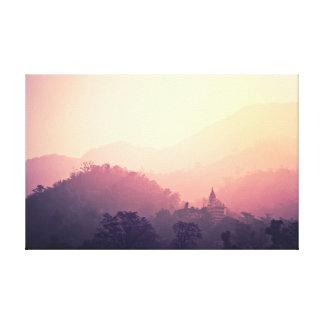 Yoga Meditation | Photography | Sunrise Temple Canvas Print