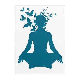 yoga meditation positive energy  peace of mind acrylic print