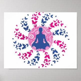 yoga meditation positive energy  peace of mind poster
