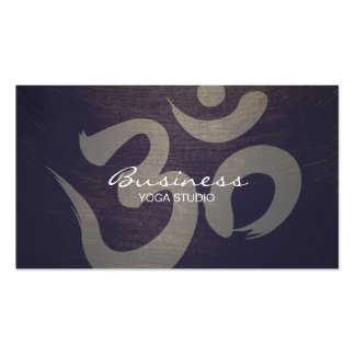 Yoga & Meditation Vintage Purple Om Sign Business Card