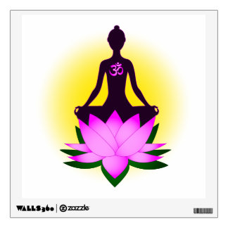 Yoga meditation wall sticker