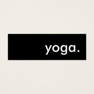 yoga. mini business card