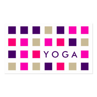 YOGA (mod squares) Business Card