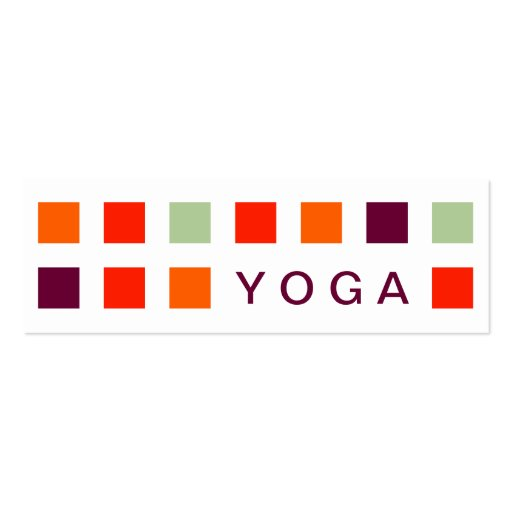 YOGA (mod squares) Business Cards
