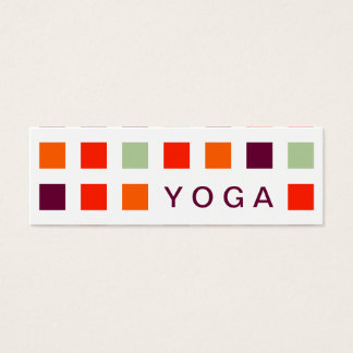 YOGA (mod squares) Mini Business Card