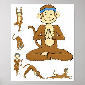 Yoga Monkey Poster