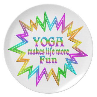 Yoga More Fun Plate
