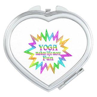 Yoga More Fun Vanity Mirrors