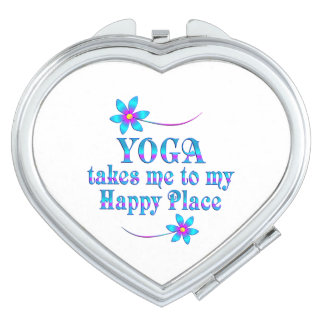 Yoga My Happy Place Travel Mirrors