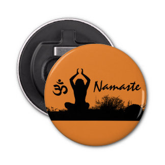 Yoga Namaste Chakra Spiritual Buddha Bottle Opener