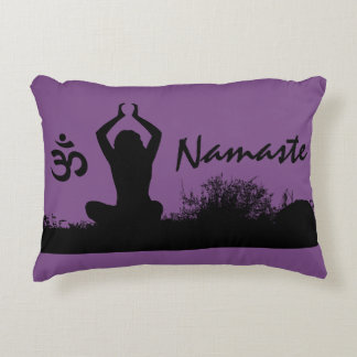 Yoga Namaste Chakra Spiritual Buddha Throw Pillow