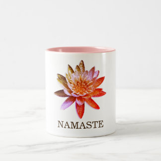 Yoga Namaste Lotus Flower Two-Tone Coffee Mug