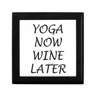 Yoga Now Wine Later Jewelry Boxes