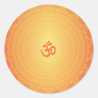 Yoga Om Buddhist Mandela sticker