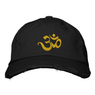 Yoga OM Embroidered Dark Cap Embroidered Hat