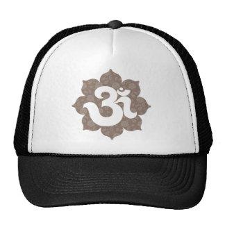 Yoga Om in Lotus brown gray Mesh Hat