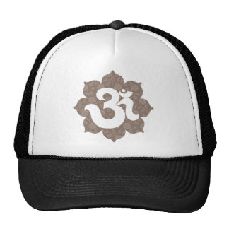 Yoga Om in Lotus brown gray Trucker Hat