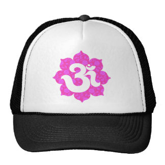 Yoga Om in Lotus pink Trucker Hat