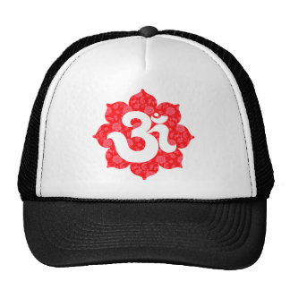 Yoga Om in Lotus Red Hats