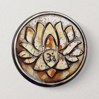 Yoga Om Symbol 3 Inch Round Button