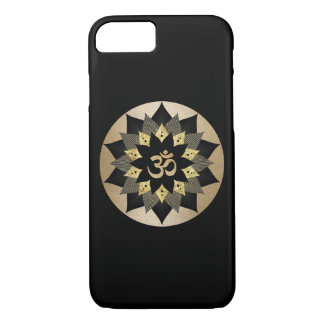 Yoga Om Symbol Black & Gold Lotus Flower Mandala iPhone 8/7 Case