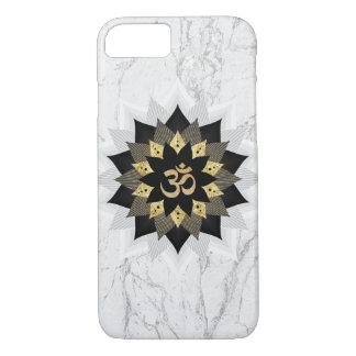 Yoga Om Symbol Black & Gold Lotus Mandala Marble Case-Mate iPhone Case