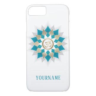 Yoga Om Symbol Teal & Gold Lotus Flower Mandala iPhone 8/7 Case