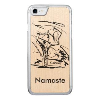 Yoga On Wood I-phone Case